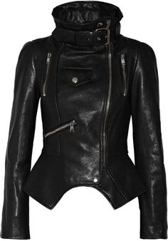 Alexander McQueen ~ Textured Leather Biker Jacket