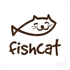 fish cat logo for sale