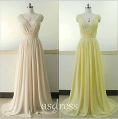 Sequined V-neck evening dress, a yellow chiffon bridesmaid dresses with spaghetti straps Homecoming sequins glittering peach bridesmaid dress beaded dress