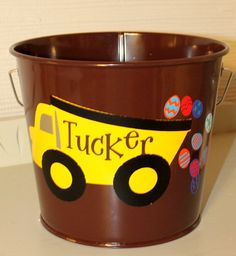 Getting Ready For Easter - Easter Bucket  Dump Truck by RememberedOnceMore