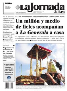 #ClippedOnIssuu from La Jornada Jalisco 13 de octubre de 2015