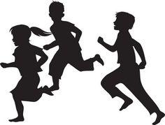 t-shirt logo idea--Running Clipart Image: The Silhouette Of Children Running Kids Silhouette, Running Silhouette, Silhouette Images, Silhouette Vector, Running Clipart, Photoshop Rendering, Shadow Photos, School Murals, Clip Art Pictures