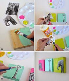 DIY: Cómo hacer cuadros para habitaciones infantiles | Decorar tu casa es facilisimo.com