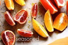 Roasted Winter Citrus-I'm sure there's nothing you can do to ruin these perfect creations. Winter citrus is sparkling! If I could wear these citrus segments as earrings… I would. Let's roast these beauties! Citrus Recipes, Pear Recipes, Brunch Recipes, Delicious Vegan Recipes, Yummy Food, Baked Pears, Joy The Baker, Eat Fruit, Sweet And Salty