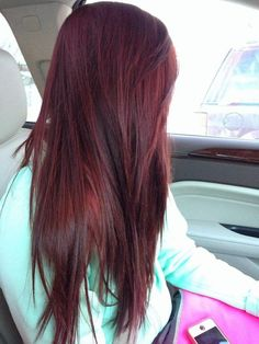 2015 dark red hair color ideas; this color is a dark ruby. looks amazing in the sun.