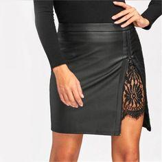 Women Ladies Black Hippie Boho Dress Fringe Tassel PU Leather Mini Belt Skirt ne