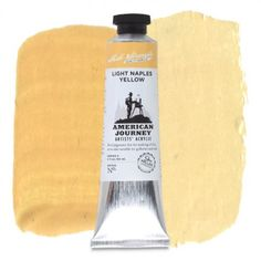 American Journey Artists' Acrylic, Light Naples Yellow is a pale, opaque earthy yellow which may be used to brighten landscapes. Available in a 60 ml. tube. #ArtSupplies #AcrylicPainting #Acrylic