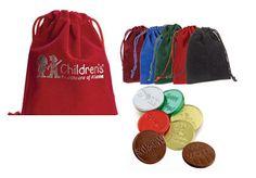 5-pc Velvet Chocolate Coin Bag Chocolate Shapes, Chocolate Coins, Chocolate Favors, Custom Chocolate, Coin Bag, Bag Making, Custom Design, How To Memorize Things, Velvet