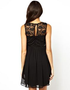 Image 2 of ASOS Maternity Skater Dress with Lace Wrap Front