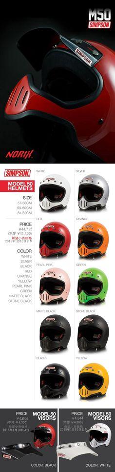 ヘルメット M50: サイズ 57-58cm, 59-60cm, 61-62cm ¥44,712 (本体¥41,400)