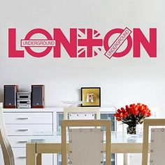 Wall Stickers Decals LONDON PVC