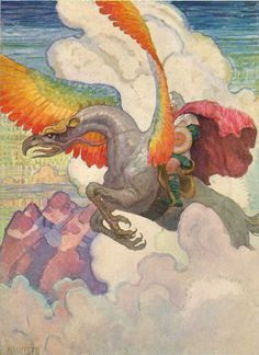 The Winged Horse from the Legends of Charlemagne, 1924, N.C. Wyeth