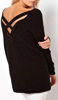 Take It Easy Cross Sweater