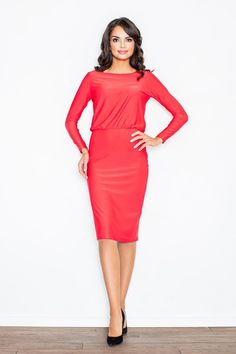 Dresses For Work, Formal Dresses, Cold Shoulder Dress, Model, Dress Red, Products, Fashion, Formal Gowns, Mathematical Model