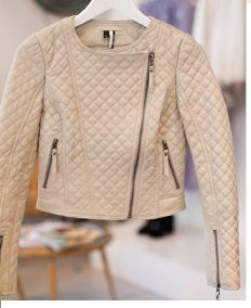 Topshop. Quilted leather jacket.