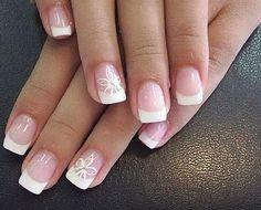 Bridal Manicure snowflake instead of flower?