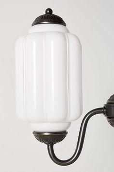 Slide View: 3: Eloise Chandelier Indoor Wall Lights, Voltage Converter, Wall Plug, Electrical Outlets, Brass Hardware, Bronze Finish, Milk Glass, Glass Shades, Vintage Inspired