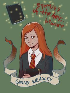 Ginny Weasley - Supporting character from Harry Potter and the Chamber of Secrets - artistic creator, Breanna-Ivy Harry Potter Anime, Harry Potter Fan Art, Gina Harry Potter, Harry E Gina, Fans D'harry Potter, Mundo Harry Potter, Images Harry Potter, Harry Potter Drawings, Harry Potter Tumblr