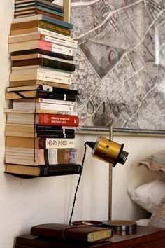 yes, quite possible to have this much bedtime reading on the go at once... I need this vertical shelf!