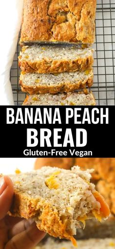 This moist Gluten-Free Vegan Banana Peach Bread is so easy to prepare, fresh juicy peach and banana are the perfect summer flavors!