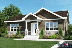Country Style Homes Facade Design, House Design, Mountain Home Exterior, Crazy Houses, Bungalow Exterior, Home Exterior Makeover, Prefabricated Houses, Craftsman Style House Plans, House Siding