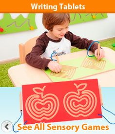 EASE early years sensory games - love these writing tablets Preschool Furniture, Sensory Games, Early Learning, Primary School, Educational Toys, Writing, Kids, Young Children, Upper Elementary