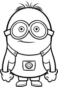 despicable me minions printable coloring pages - Colouring In Kids