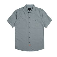 Brixton Blake SS Button Up - Charcoal/Olive