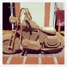 Straw motorbike in #Marbella #motorbike #wicker #pimpmyride #streets #marbs #transport #ig #igers #picoftheday #instabike by @natlou22 was liked by the outdoor wicker furniture experts!