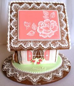 Gift ideas for cyclists [for all the bike lovers] Gingerbread House Designs, Gingerbread Village, Gingerbread Decorations, Christmas Gingerbread House, Gingerbread Cookies, Christmas Cookies, Christmas Ornaments, Royal Icing Cookies, Cupcake Cookies
