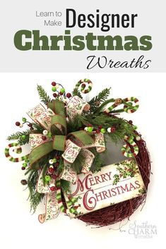 Learn to make designer Christmas wreaths just like the pros! Where to get supplies, flower placement, color selection or where to even start! Plus bonus tips for getting started with your own wreath making business. Christmas Wreaths To Make, How To Make Wreaths, Holiday Wreaths, Christmas Holidays, Christmas Crafts, Christmas Decorations, Holiday Decor, Christmas Vacation, Country Christmas