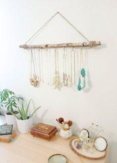 Leuk idee voor je sieraden! www.decoratietakken.nl