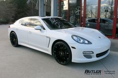 Porsche Panamera with Victor Wurttemburg Wheels exclusively from Butler Tires and Wheels in Atlanta, GA - Image Number 10880 Atlanta, Porsche Panamera Turbo, New Luxury Cars, Exotic Art, Expensive Cars, Mk1, My Ride, Camps, Fast Cars
