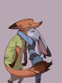 Judy is so smol. Nick just leaning in for the hug. Check the artist halcyon1796 on twitter. Also I'm posting this from my phone, forgot to bring my...