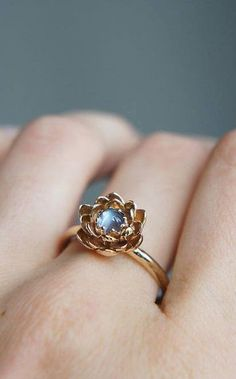 Moonstone engagement ring, flower engagement ring #engagementrings