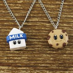 Tiny Milk & Cookies Best Friend Necklace