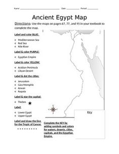 This Writing Assignment Is Included In The Pages Ancient Egypt - Map of egypt blank