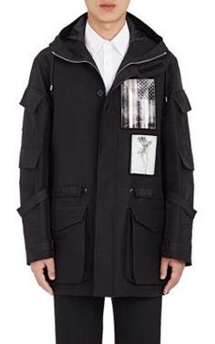 GIVENCHY Patch-Detailed Tech-Canvas Anorak. #givenchy #cloth #anorak