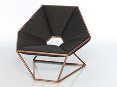 Sillón de acero inoxidable HEXA by Contempo   diseño Antonio Pio Saracino