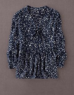 I've spotted this @BodenClothing Bow Front Blouse Navy Night Sky