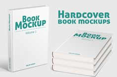Hardcover Book Mockups by Picseel on Creative Market