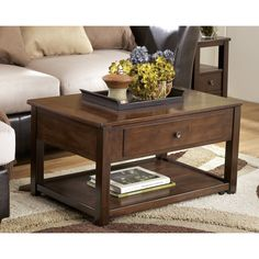 Darby Home Co Eastin Coffee Table with Lift Top