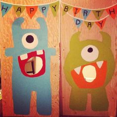 adorable monster party: photo booth