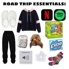 Travel Bag Essentials, Road Trip Essentials, Travel Checklist, Road Trip Packing List, Road Trip Hacks, Packing Tips, Road Trips, Teen Trends, Cute Comfy Outfits