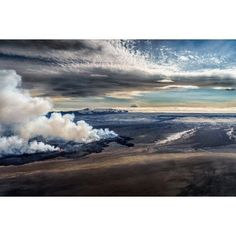 Lav and plumes from the Holuhraun Fissure by the Bardarbunga Volcano Iceland Sept 1 2014 Canvas Art - Panoramic Images (27 x 9)