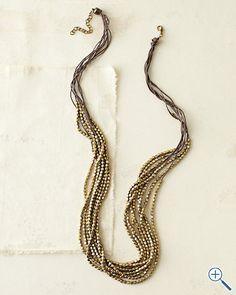 Christian Livingston Metal Necklace  Garnet Hill