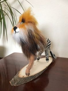 Needle Felted Lion and Zebra. Needle Felted Animals, Felt Animals, Needle Felting, Lion Mane, Quirky Gifts, Horse Hair, Zebras, Body Shapes, Handmade Gifts