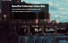How to Embed Fullscreen Background Videos using jQuery
