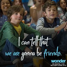 Friends are the family you choose. Watch #WonderTheMovie on Digital 1/30, coming to Blu-ray 2/13.
