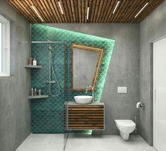 Color Pop, Bathroom, Small Bathroom, Bathroom Design Inspiration, Interior, Ensuite, Framed Bathroom Mirror, Bathroom Mirror, Home Decor
